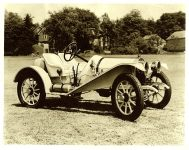 "1910 Empire Model B Speedster The ""poor man's Stutz Bearcat"" 9″x7″ Black & White photograph"