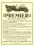 1910 7 PREMIER Six-Sixty $3,500 Premier Motor Mfg. Company Indianapolis, IndianaAMERICAN MOTORIST July 1910 Vol. 2 No. 2 9″x11.75″ page 296
