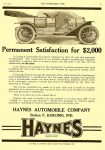 1910 7 6 HAYNES Kokomo, Indiana THE HORSELESS AGE July 6, 1910 Vol. 26 No. 1 9″x12″ page 21