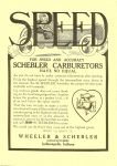 1910 4 20 SCHEBLER FOR SPEED AMC ACCURACY SCHEBLER CARBURETOR HAVE NO EQUAL Schebler Carburetor Wheeler-Schebler Indianapolis, Indiana THE HORSELESS AGE April 20, 1910 Vol. 25 No. 16 9″x12″ Front inside