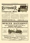 1911 4 12 RUTENBER Commercial Motor Western Motor Co. Marion, Indiana THE HORSELESS AGE April 12, 1911 Vol. 27 No. 15 9″x12″ page 39