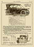 1911 8 17 AMERICAN Indianapolis, Indiana The Automobile magazine Vol. 25 No. 7 page 184 9″x12″