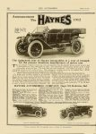 1912 8 17 HAYNES The eighteenth year of Haynes automobile is a year of triumph for the pioneer American manufacturer of motor cars Haynes Automobile Company Kokomo, Indiana THE AUTOMOBILE Vol. 25 No. 7 August 17, 1911 9″x12″ page 182