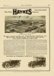 1912 8 17 HAYNES THE NEW HAYNES FACTORY Haynes Automobile Company Kokomo, Indiana THE AUTOMOBILE Vol. 25 No. 7 August 17, 1911 9″x12″ page 183