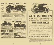 1911 EMPIRE TWENTY Model C Floyd Clymer's Historical Motor SCRAPBOOK Number 2 1944 5.5″x8.25″ page 98