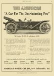 """1911 11 24 AMERICAN """"A Car For The Discriminating Few"""" $4,250 in 1910 = $103,155 AMERICAN MOTOR CAR CO Indianapolis, IND MOTOR AGE page 67 8.5″x12″"""