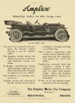 1911 8 31 AMPLEX Quality tells in the long run $4,300 in 1911 = $104,369 in 2012 The Simplex Motor Car Company MISHAWAKA, INDIANA MOTOR AGE Aug 31, 1911 8.25″x11.5″ page 82
