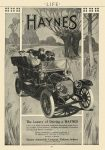 1911 2 2 HAYNES The Luxury of Driving a HAYNES HAYNES AUTOMOBILE COMPANY Kokomo, Indiana LIFE Feb 2, 1911 8.25″x11″ page 243