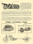 "1911 9 28 NYBERG ""NYBERG 35"" SPECIFICATIONS Nyberg Automobile Works Anderson, Indiana MOTOR AGE September 28, 1911 8″x11.75″ page 54"