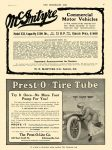 1911 6 15 PREST-O-LITE Prest-O-Tire Tube Try It Once – No More Foot Pump For You! The Prest-O-Lite Co Indianapolis, Indiana THE HORSELESS AGE June 15, 1910 8.25″x12″ page 7