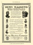 1911 6 28 REMY MAGNETO 500-Mile International Race Indianapolis Remy Electric Company Anderson, Indiana THE HORSELESS AGE June 28, 1911 8.5″11.75″ page 28