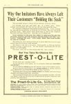 1911 6 7 PREST-O-LITE The Prest-O-Lite Co. Indianapolis, Ind. THE HORSELESS AGE June 7, 1911 Vol. 27 No. 23 9″x12″ page 25