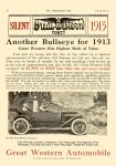 1913 7 10 GREAT WESTERN ANOTHER BULLSEYE FOR 1913 Great Western Hits Highest Mark of Value Great Western Forty $1,585 Great Western Automobile Company Peru, Indiana THE HORSELESS AGE Vol. 30, No. 2 July 10, 1912 9″x12″ page 10