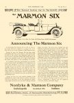 1912 7 10 MARMON Announcing the Marmon Six Marmon Six Nordyke & Marmon Company Indianapolis, Indiana THE HORSELESS AGE Vol. 30, No. 2 July 10, 1912 9″x12″ page 12