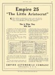"1912 3 4 EMPIRE 25 ""The Little Aristcrat"" Empire Automobile Co Indianapolis, Indiana MOTOR AGE March 4, 1912 8.5″x12″ page 55"
