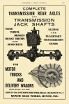 1912 7 MUNCIE GEAR Transmission Rear Axles MUNCIE GEAR WORKS Muncie, IND AUTOMOBILE TRADE JOURNAL July 1912 6.25″x10″ page 213