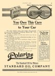 1914 11 19 POLARINE You Owe This Care to Your Car STANDARD OIL COMPANY (An Indiana Corporation) MOTOR AGE Nov 19, 1914 8.5″x12″ page 42