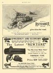 1912 3 4 RUTENBER If it's a RUTENBER MOTOR give him the road. Rutenber Motor Co. Marion, Indiana THE WESTERN MOTOR COMPANY Marion, Indiana MOTOR AGE March 4, 1912 8.5″x12″ page 98
