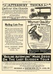 1912 10 1 WARNER GEAR Co WARNER Quality Steering Gears WARNER GEAR Co Muncie, IND MOTOR AGE October 1, 1912 8.25″x12″ page 104