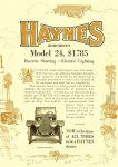 1913 12 18 HAYNES Model 24 $1,785 Electric Starting – Electric Lighting Haynes Automobile Company Kokomo, Indiana THE HORSELESS AGE Vol. 30, No. 25 December 18, 1912 9″x12″ page 44a