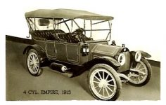 1913 EMPIRE 4-Cyl. EMPIRE MOTOR CAR COMPANY Indianapolis, Indiana Black & White photograph 2.5″x1.5″