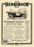 1913 2 17 HENDERSON The Underprice Luxury Car $1,585 = $36,264 in 2012 Henderson Motor Car Company Indianapolis, Indiana MOTOR AGE Feb 17, 1913 8.25″x11.5″ page 62