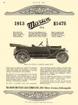 1913 8 29 MARION 37-A $1475 Marion Motor Car Company Indianapolis, Indiana MOTOR AGE August 29, 1912 8.5″x11″ page 67
