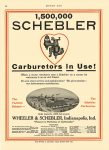 1914 5 28 SCHEBLER Carburetors 1,500,000 SCHEBLER Carburetors In Use! Wheeler-Schebler Indianapolis, Indiana MOTOR AGE May 28, 1914 8.5″x12″ page 54