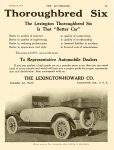 1915 1 28 LEXINGTON The LEXINGTON Thoroughbred Six Lexington Motor Co. Connersville, Indiana THE AUTOMOBILE Vol. 32 No. 4 January 28, 1915 9″x12″ page 79