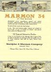 1916 1 20 MARMON 34 Nordyke & Marmon Company Indianapolis, Indiana THE AUTOMOBILE Vol. 34 No. 3 January 20, 1916 9″x12″ page 132
