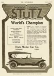 1916 1 20 STUTZ World's Champion Indianapolis, Indiana THE AUTOMOBILE Vol. 34 No. 3 January 20, 1916 9″x12″ page 120