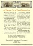 """1916 4 13 MARMON 34 """"A Luxury Car of Low Upkeep Cost"""" Nordyke & Marmon Company Indianapolis, Indiana MOTOR AGE Chicago April 13, 1916 9″x12″ page 66"""