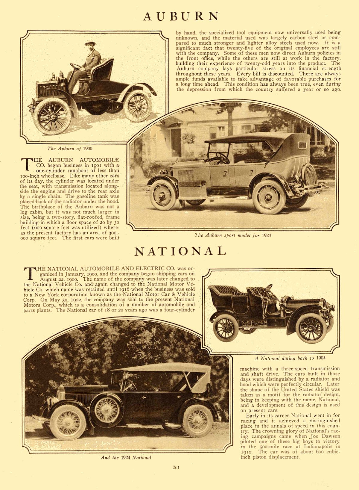 1924 NATIONAL National Motors Corp. Indianapolis, IND MoToR January 1924 Page 261 9.25″13.5″