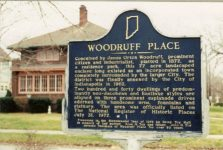 2001 12 24 WOODRUFF PLACE historical plaque Indianapolis, Indiana CDT snapshot: December 24, 2001 6″x4″
