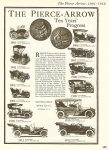 "1901-1912 The Pierce-Arrow ""Ten Years' Progress"" Floyd Clymer's Treasury of EARLY AMERICAN AUTOMOBILES 1877-1925, 1950 8″x11″ page 125"