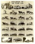 Evolution of the FORD Car 1896-1946 8″x10″ Black & White photograph