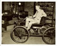 FORD Car 1896 & Henry Ford (1863-1947) 8″x10″ Black & White photograph