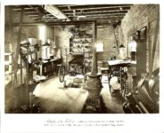 Birthplace of the FORD Car (Interior) On Bagley Avenue, Detroit, Michigan 10″x8″ Black & White photograph