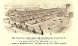 1901 NATIONAL Factory Drawing The National Automobile and Electric Company Folded two sided Sales Sheet Folded: 6.25″x10.5″ Open: 12.5″x10.5″ side 2b