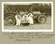 """1912 ca. """"Old National – About 1912″ Test Family snapshot 4.5″x2.5"""""""