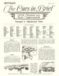 1918 MOTOR AGE (Repro) Made in America Cars 1918 January 3, 1918 8.5″x11″ Page 9