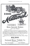 "1909 12 19 NATIONAL $2,500 National ""40"" More Records Broken And in Zero Weather! National Motor Vehicle Co. Fisher Auto Company Local Distributers THE INDIANAPOLIS STAR December 19, 1909 xerox"