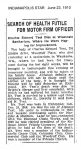 1910 6 23 Charles E. Test Obituary SEARCH OF HEALTH FUTILE FOR MOTOR FIRM OFFICER INDIANAPOLIS STAR June 23, 1910 xerox