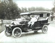 1911 ca. 1910 NATIONAL 50 ca. 1911 Skiles E. Test with chauffeur Probably Woodruff Place Middle Drive Indianapolis, Indiana