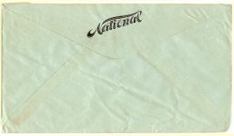 1919 6 16 NATIONAL envelope National Motor Car    Vehicle Corporation Postmarked June 16, 1919 Indianapolis, IND Back 6.5″x3.5″