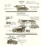 1920 & 21 JACKSON (1903-1923) MONSTROUS American Car Spotter's Guide 1920-1980 By Tad Burness 1986 Motorbooks International Osceola, WIS LCCCN: TL23.B83 1986 86-12754 ISBN: 0-87938-223-6 8.5″x9.25″ page 138