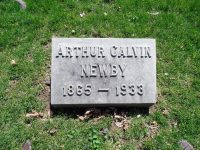 Arthur Calvin Newby 1865-1933 Headstone Crown Hill Cemetery Indianapolis, Indiana