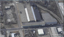 "2005 ca. ""Birds-eye view"" Old National Factory 1000-04-06-12-16-26-34 East 22nd Street Indianapolis, Indiana"