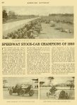 1910 7 NATIONAL Speedway Stock-Car Champions of 1910 AMERICAN MOTORIST July 1910 Vol. 2 No. 2 9″x11.75″ page 264