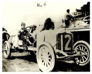 ca. 1910 Johnny Aitken in National Car 12, but probably not at the Indianapolis Motor Speedway according to Donald Davidson, Indy 500 Historian Photo courtesy: Indianapolis Motor Speedway H 1312 No 4